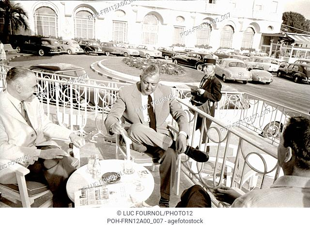 Jacques Tati during the Cannes Film Festival May 1958