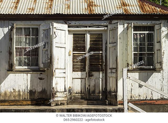 St. Kitts and Nevis, St. Kitts, Basseterre, traditional house by Independence Square