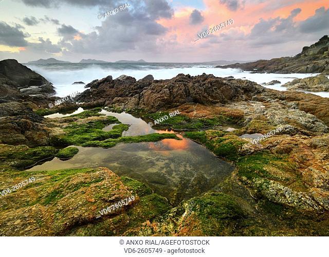 Spain. Galicia. Pontevedra. Vigo. Beach Bride. Saians