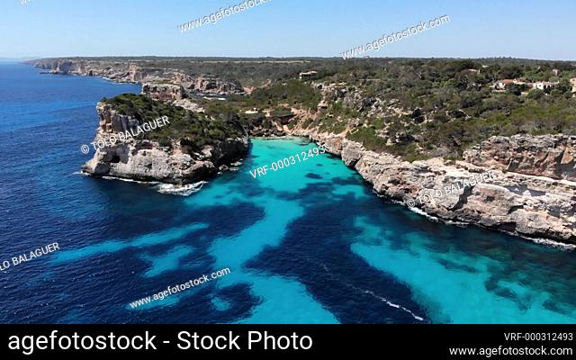 Calo des Moro, Santanyi, Mallorca, Balearic Islands, Spain