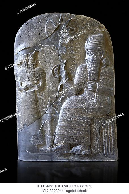Basalt Babylonian sculpture usurped by an Elamite king. 12th cent. BC from Suse. Inv AO 30043, The Louvre Museum, Paris