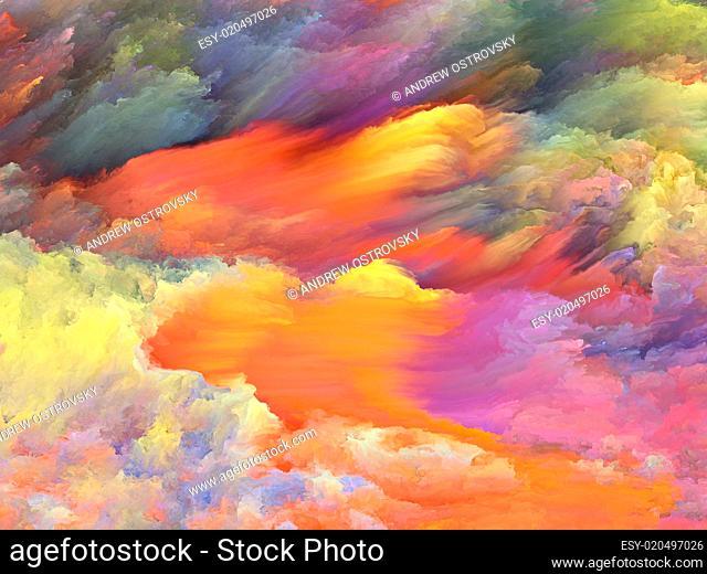Stream of Fractal Paint