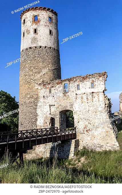 Romantic ruins of a medieval castle Zviretice, Central Bohemia, Czech Republic