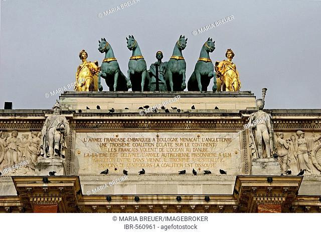 Arc de Triomphe du Carrousel Detail Musee du Louvre Paris France