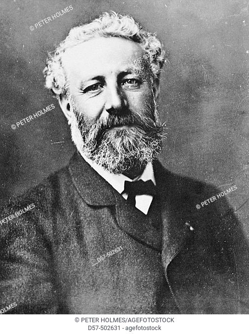 Jules Verne (1828 - 1905), French author. Photograph by Nadar