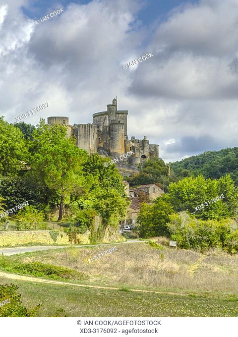 Bonaguil Castle, Bonaguil, Lot-et-Garonne Department, Nouvelle Aquitaine, France