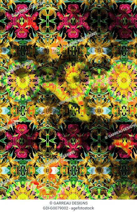 Repeating floral design