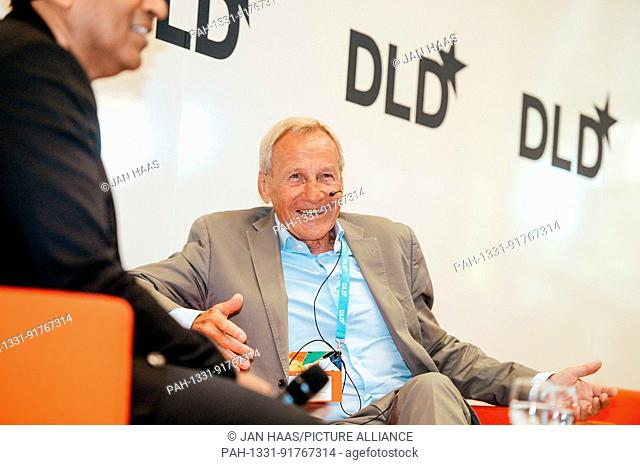 BAYREUTH/GERMANY - JUNE 21: Herbert Henzler (Herbert Henzler Consulting) laughs speaking on the stage during the DLD Campus event at the University of Bayreuth...