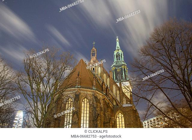 The Marienkirche Church in Alexanderplatz - Berlin - Germany - Europe