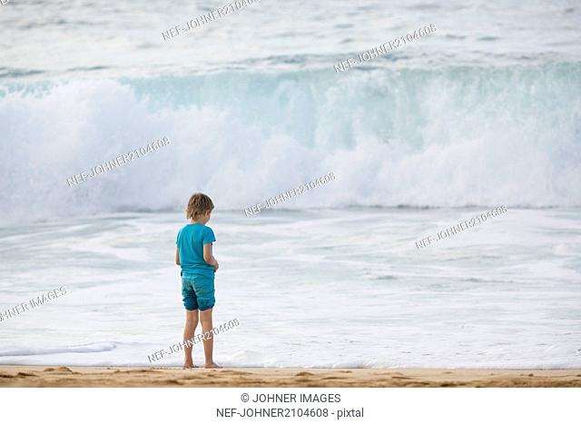 Boy looking at sea