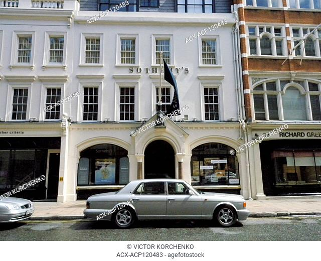 Sotheby's headquarters in London Mayfair area