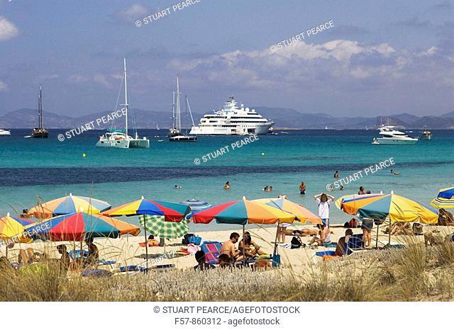 Illetas Beach, Formentera, Balearic Islands, Spain