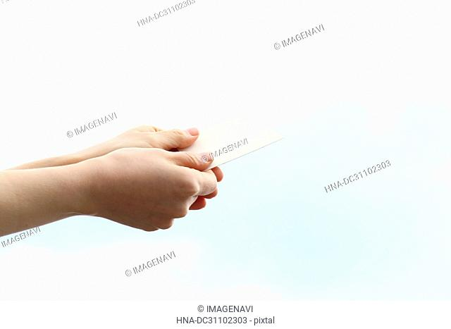 Woman Hand Holding Card