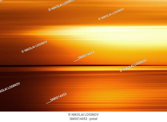 Sunset ocean horizon ackground hd