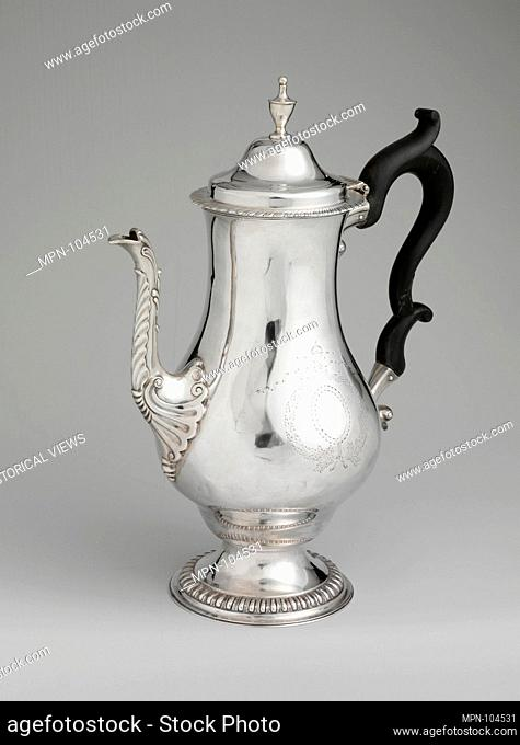 Coffeepot. Maker: Ephraim Brasher (American, baptized 1744-1810); Date: 1780-90; Geography: Made in New York, New York, United States; Culture: American;...