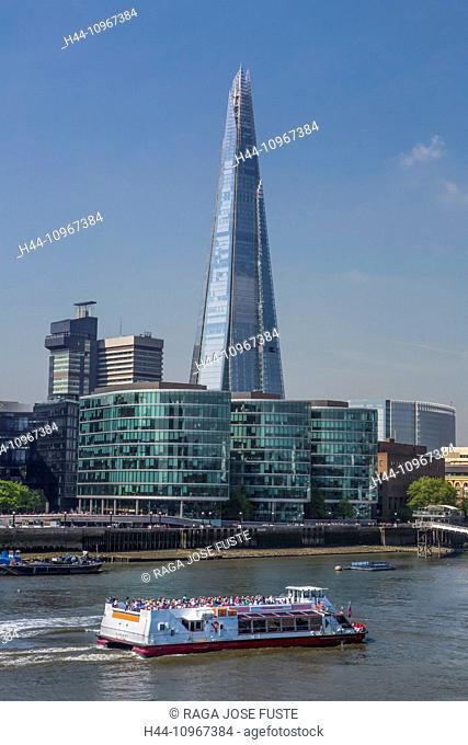 Building, City, City Hall, London, England, Shard, UK, architecture, boat, new, river, Thames, river, tourism, tourists, tower, travel