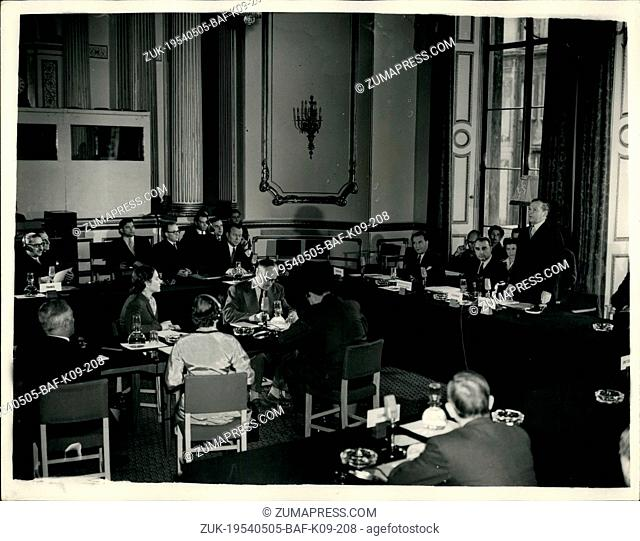 May 05, 1954 - H-Talks Start in London: Delegates from Britain, the United States, France, Canada and Russia, met in Lancaster House, St