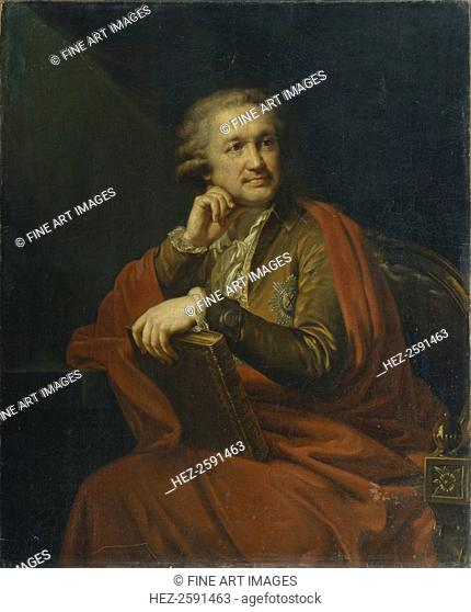 Portrait of Prince Alexander Sergeevich Stroganov (1733-1811), 1793. Found in the collection of the State Art Gallery, Perm