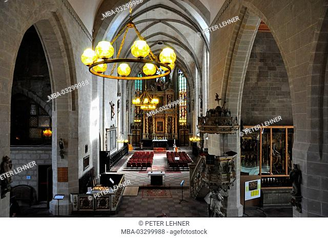 Germany, Saxony-Anhalt, Quedlinburg, market church, nave