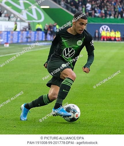 06 October 2019, Lower Saxony, Wolfsburg: Soccer: Bundesliga, Matchday 7: VfL Wolfsburg - 1st FC Union Berlin in the Volkswagen Arena