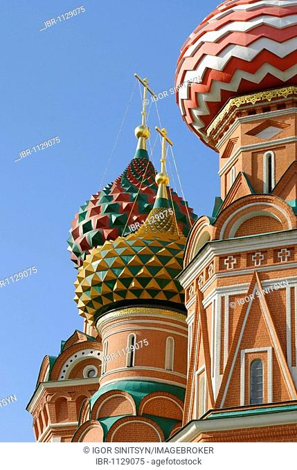 Domes of the Saint Basil Cathedral, Red Square, Moscow, Russia
