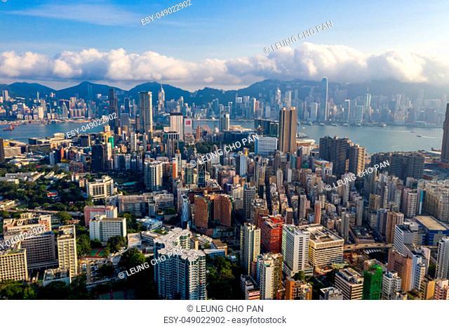 Mong Kok, Hong Kong 04 September 2018:- Hong Kong downtown city