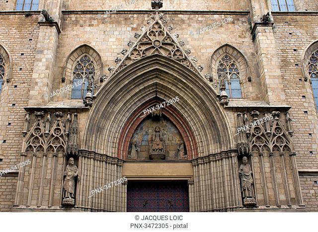 Spain, Catalonia, Barcelona, church of Santa Maria del Mar