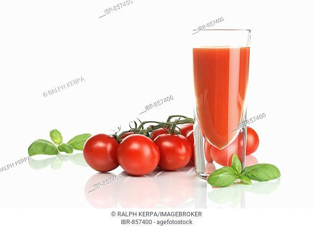Tomato juice and basil