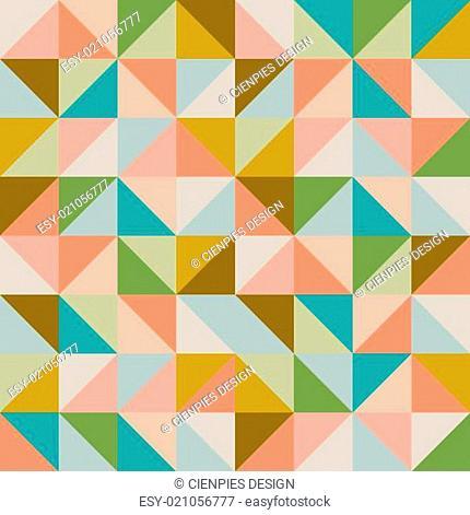 Trendy retro hipster geometric seamless pattern