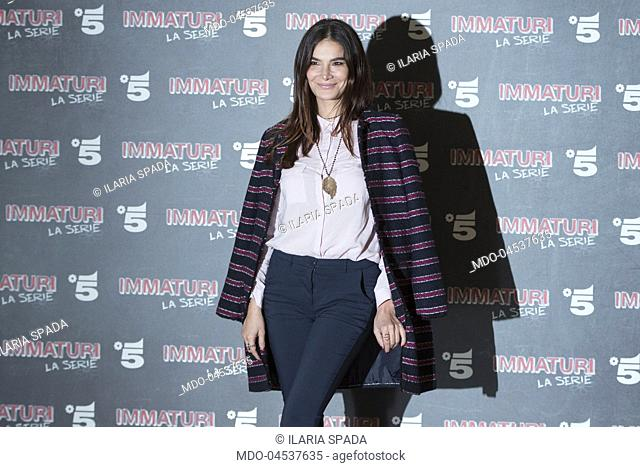 Italian actress Ilaria Spada attends the photocall of Mediaset's Immaturi fiction. Milan, January 11th 2018