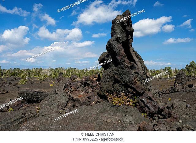 USA, Vereinigte Staaten, Amerika, Hawaii, Big Island, Volcanoes National Park, UNESCO, World Heritage, lava desert along Chain of Craters Road