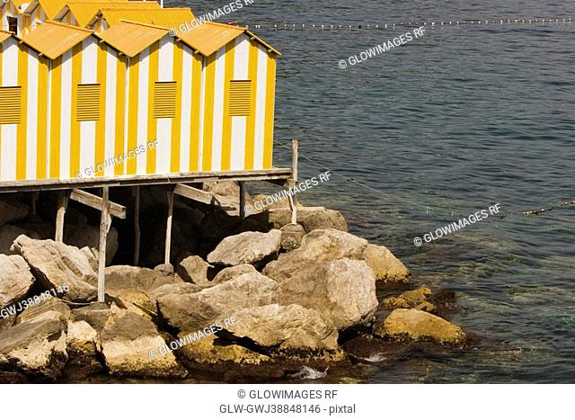 Tourist resorts at the sea, Marina Grande, Capri, Sorrento, Sorrentine Peninsula, Naples Province, Campania, Italy