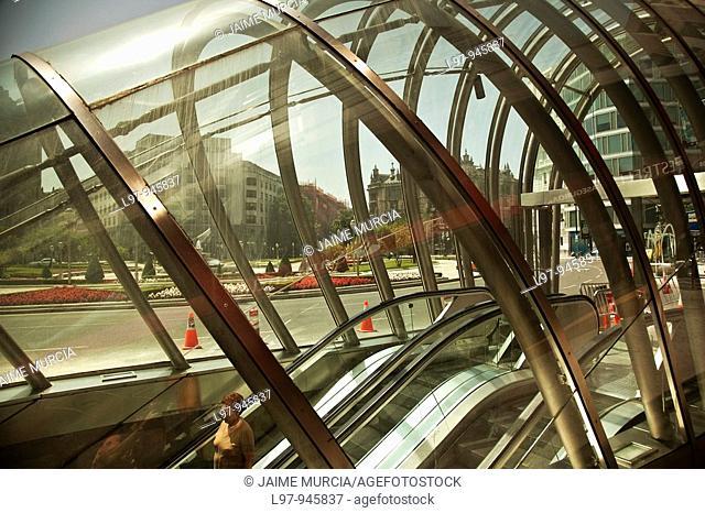 Glass subway entrance Bilbao