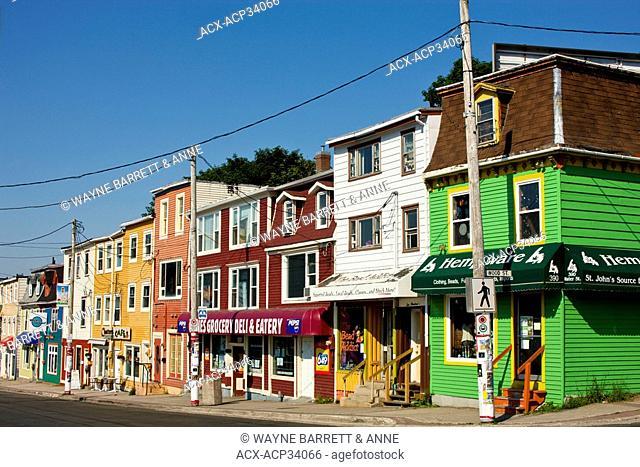 Row shops in St. John's, Newfoundland and Labrador, Canada