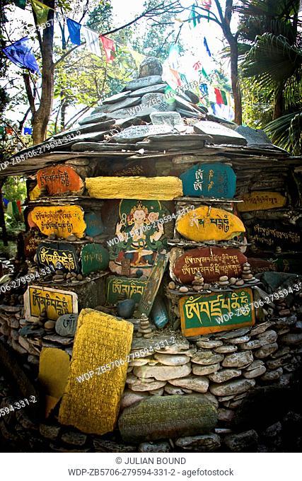 The gardens of Norbulingka Institute of Tibetan Arts, Dharamshala, India