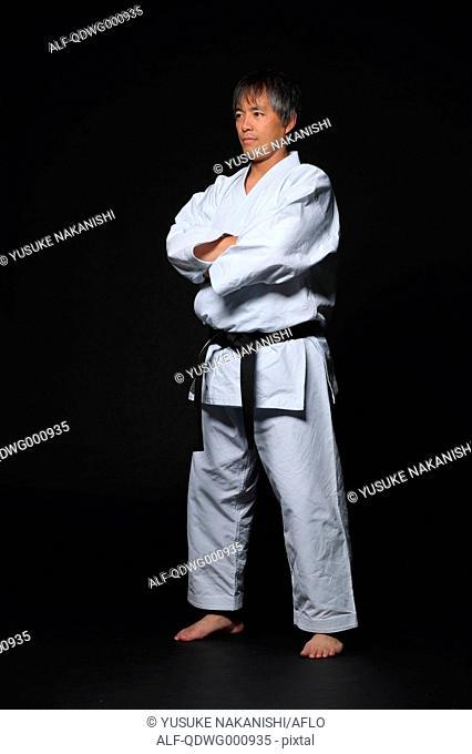 Japanese karate master