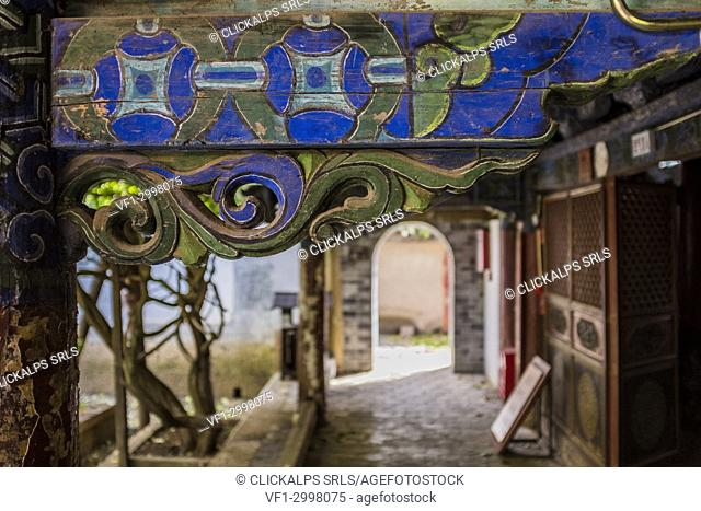 House detail, Old Town of Lijiang, Yunnan Province, China, Asia, Asian, East Asia, Far East