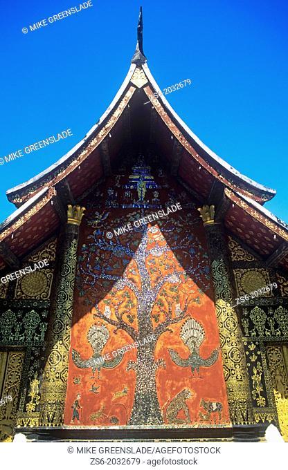 Intricate mosaic, Wat Xieng Thong, Luang Prabang, Laos