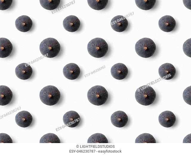 ripe fresh figs isolated on white