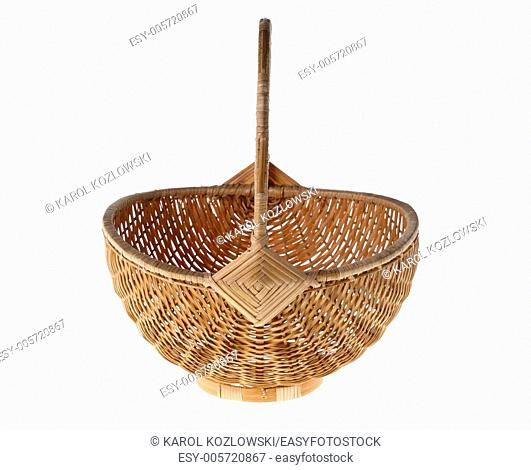 Studio isolated photo of a Wicker Basket useful for designs