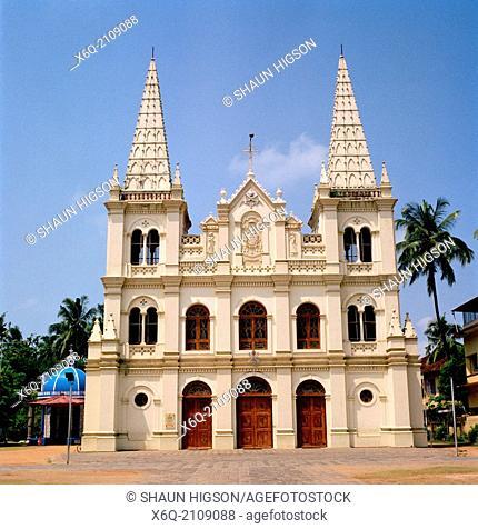 Santa Cruz Basilica in Fort Kochi Cochin in Kerala in India in South Asia