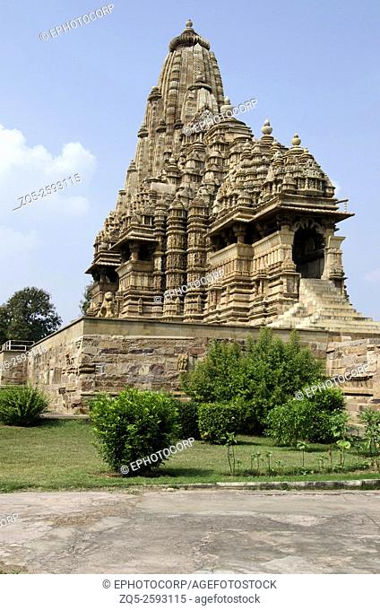 KANDARIYA MAHADEV TEMPLE: Facade - South East View, Western Group, Khajuraho, Madhya Pradesh, India, UNESCO World Heritage Site