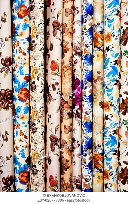 fabric samples for textil and furniture