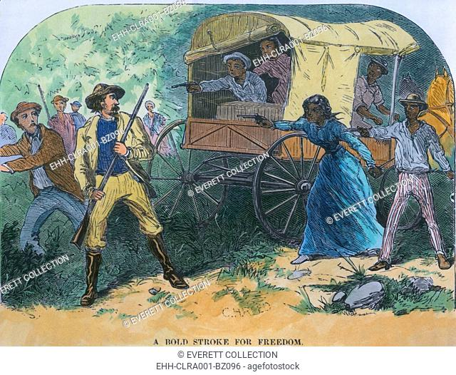 Armed fugitive slaves defend themselves against slave-catchers who unaccustomed to such bravery backed down allowing the enslaved young men and women to reach...