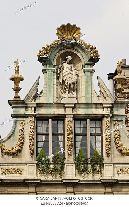 Guildhouse of The Grand Place or Grote Markt, UNESCO World Heritage Site, Brussels, Belgium, Europe