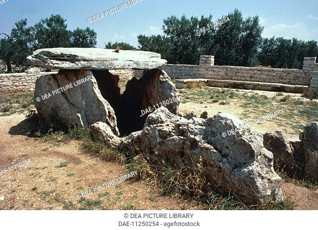 Italy - Apulia Region - Surroundings of Bisceglie, Bari province. Chianca dolmen
