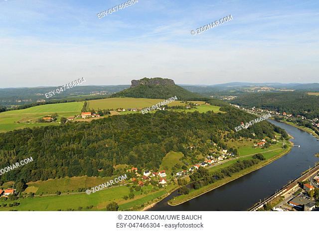 Tafelberg Lilienstein im Elbsandsteingebirge, Saechsische Schweiz