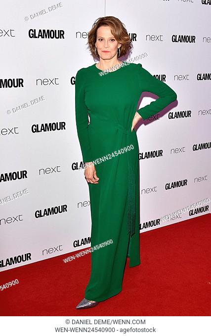 Glamour Women Of The Year Awards held on Berkeley Square - Arrivals. Featuring: Sigourney Weaver Where: London, United Kingdom When: 07 Jun 2016 Credit: Daniel...