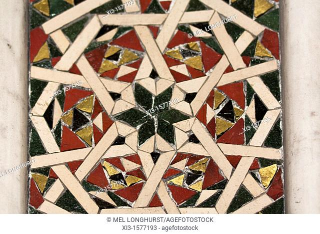 Inlaid mosaic inside Monreale Cathedral, Monreale, near Palermo, Sicily, Italy