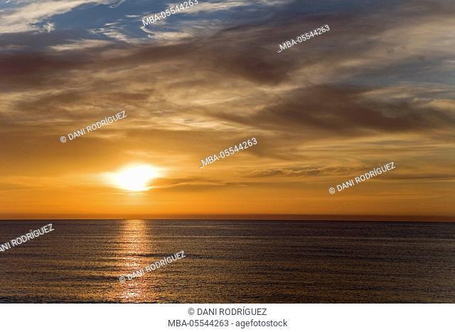 Sunset in Mojacar, Almeria Province, Andalusia, Spain